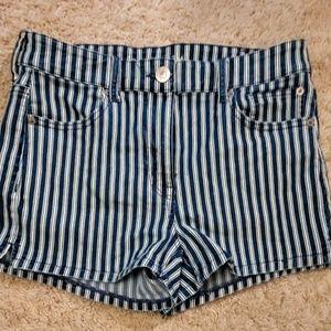 Striped American Eagle Curvy Shorts